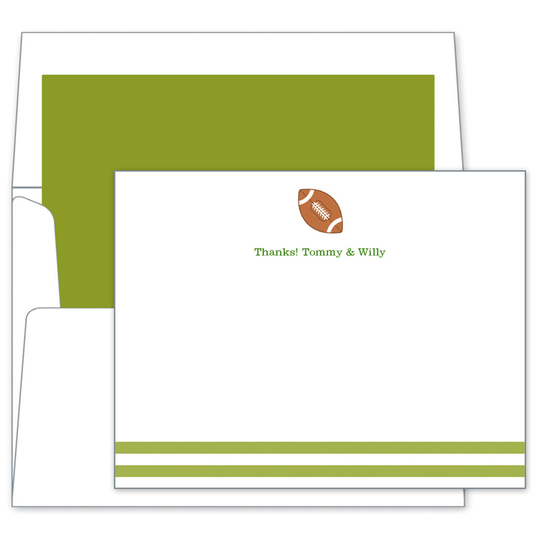 Football Flat Note Cards