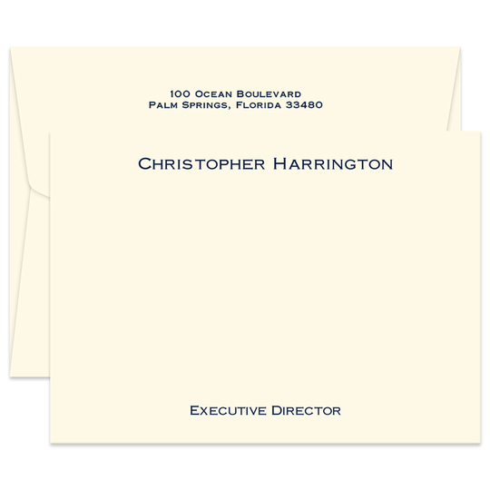 Triple Thick Executive Flat Note Cards