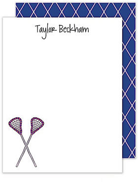 Lacrosse Flat Note Cards