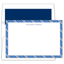 Blue & Navy Repp Tie Flat Note Cards
