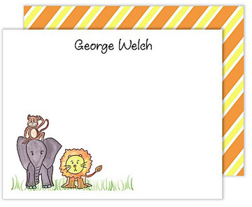 Zoo Friends Flat Note Cards