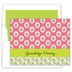 Block Provencial Pink Folded Note Cards Image 1 of 2