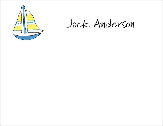 Sailboat Flat Note Cards