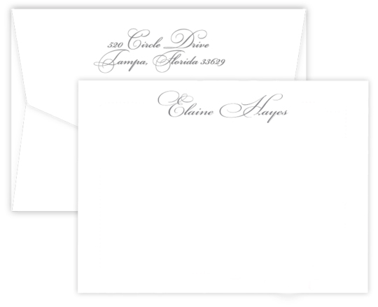 Triple Thick Estate Flat Note Cards