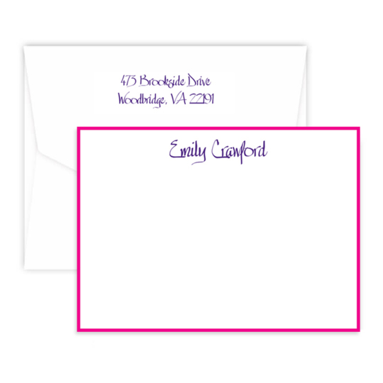 Triple Thick Design Your Own Border Flat Note Cards