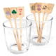 Personalized Rectangle Top Wood Stir Sticks Image 1 of 3