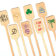 Personalized Rectangle Top Wood Stir Sticks Image 2 of 3