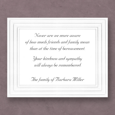 Embassy Sympathy Cards on Double Thick Stock