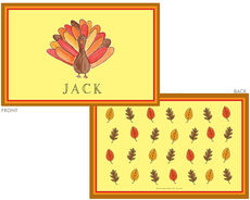 Tom Turkey Laminated Placemat