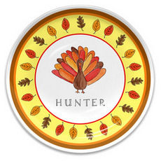 Tom Turkey Melamine Plate