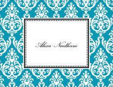 Madison Teal Note Cards