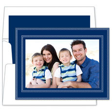 Beaded Navy Photo Cards