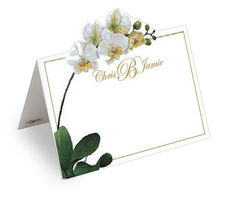 Orchid Die Cut Personalized Place Cards