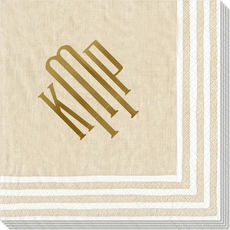 Natural Stripe Border Caspari Napkins