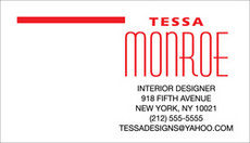 Tessa Business Cards