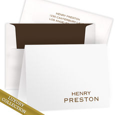 Luxury Preston Folded Note Card Collection