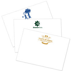 Custom Flat Note Cards with Your 1-Color Artwork
