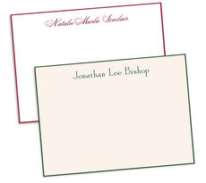 Regal Hand-Bordered Flat Note Cards