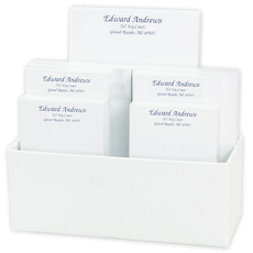 Proper Notepad Collection in White Holder