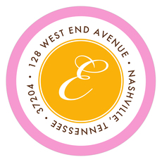Pink and Orange Border Round Address Labels