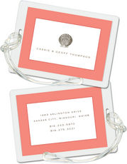 Coral Seashell Luggage Tags