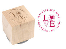 My Love Wood Block Rubber Stamp