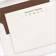 Row of Dots Letterpress Flat Note Cards
