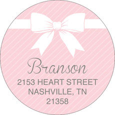 Sweet Pink Baby Round Address Labels