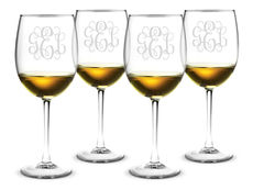 Monogrammed 19 oz. Classic Wine Glass Set of 4