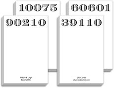 Big Zip Code Chunky Notepads