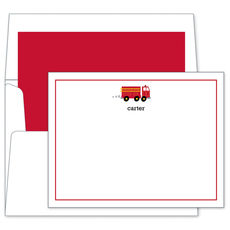 Fire Truck Flat Note Cards