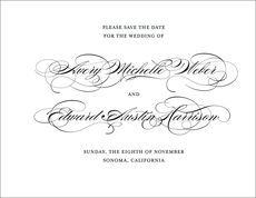 Perfectly Scripted Save the Date Cards