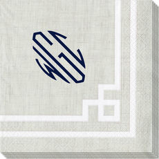 Natural Greek Key Caspari Napkins