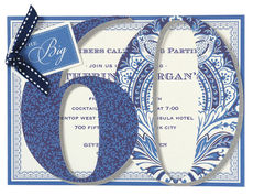 The Big 60 Die-cut Invitations