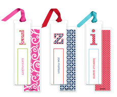 Personalized Bookmarks in Your Choice of Pattern