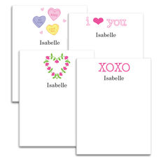 Love and XOXO Notepad Collection