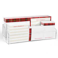 Red Plaid Post-it® Notes Ensemble