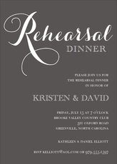 Charcoal Rehearsal Dinner Invitations