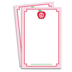 Pink Monogrammed Apple Notepads
