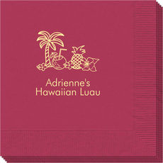Tropical Hawaiian Luau Napkins