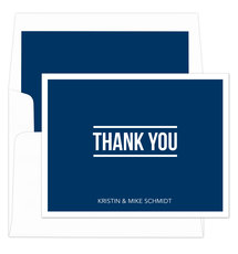 Navy Bold Thank You Folded Note Cards