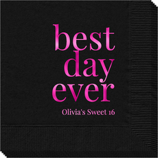 Best Day Ever Big Word Napkins