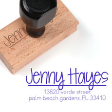 Large Hayes Wood Handle Rubber Stamp