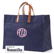 Personalized Navy Shopper Tote