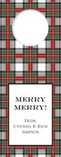 Stewart Plaid Wine Tags