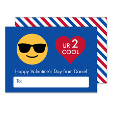 You Are 2 Cool Valentine Exchange Cards