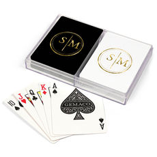 Dotted Circle Duogram Double Deck Playing Cards