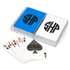 Rounded Monogram Double Deck Playing Cards