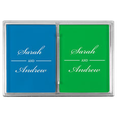Duo Name Double Deck Playing Cards