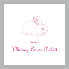 Grey Border Bunny Gift Stickers
